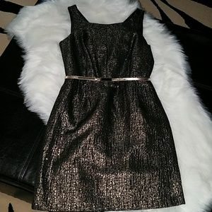 NWT Black and Gold Shimmer Dress